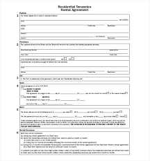 Printable Rental Application Template Free Apartment Agreement Forms ...