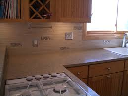 Porcelain Tile Kitchen Backsplash Porcelain And Glass Kitchen Backsplash In Windsor