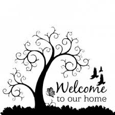 Tree Design Stickers Day To Day Welcome Tree Design Black Wall Sticker Fabulloso