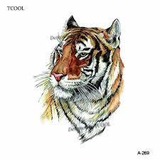 Hxman тигр временная татуировка стикеры для водонепроницаемый для