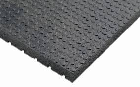The flooring is made from a combination of virgin and recycled rubber bonded by a two part urethane compound. Quality Rubber Resources Horse Stall Mat Punter Top With Wide Rib Bottom Murdoch S