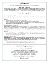 Nurse Practitioner Resume Simple Nurse Practitioner Resume Sample Unique Writing A Nursing Resume
