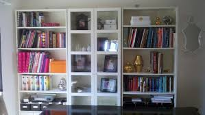 pretty bookcase with glass doors
