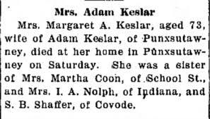 Obituary for Keslar (Aged 73) - Newspapers.com