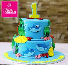 Shark Fish Birthday Cake Online Cake Shop Cake Feasta