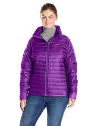 plus size columbia jackets columbia womens powder pillow hybrid plus size jacket iris glow 1x