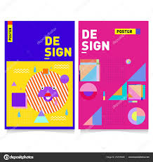 Abstract Colorful Poster Design Template Cool Geometric Cover Design