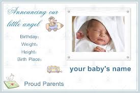 birth announcement templates boy birth announcement template