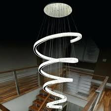 spiral staircase lighting. Staircase Light Fixture Spiral Design Modern Led Chandelier Crystal Lamp Lustre Hotel Lighting Fixtures .