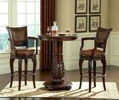 wooden pub table set conventional bar table sets in rounded shape made of wood combined with wooden pub table set