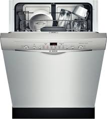 Stainless Steel Dishwasher Panel Kit She3ar75uc Bosch Ascenta 24 Dishwasher W Recessed Handle