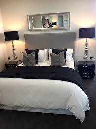 black bed with white furniture. Bedroom: Chic Décor (black, White, And Gray) Black Bed With White Furniture E