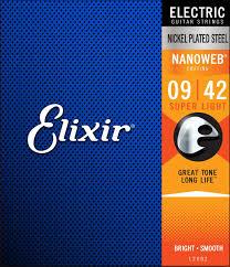 elixir strings 12002 nanoweb super light electric guitar strings