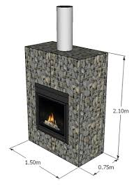 gabion outside fireplace