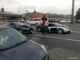 Please subscribe to the channel here: Car Crash Aston Martin Db9 Rear Ends Bugatti Veyron Gtspirit