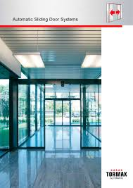 automatic sliding door systems 1 8 pages