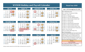 Human Resources Holiday Calendar West Virginia School Of