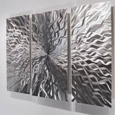 cosmic energy 3 panel silver modern contemporary abstract metal wall sculpture art work painting home on metal wall art amazon uk with modern metal wall art amazon uk