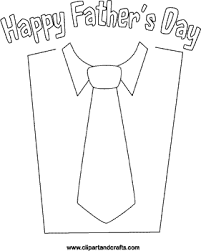 Small Picture shirt and tie coloring picture Fathers Day poster Holidays Art