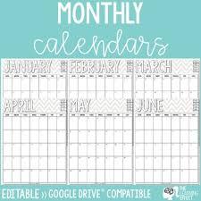 2020 Calendar Editable Monthly Calendar 2019 2020 Through 2025 Free Updates Editable