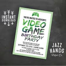 printable video game birthday invitation template diy 128270zoom