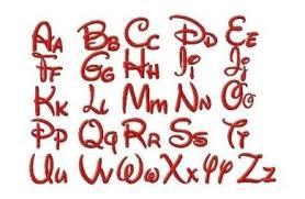 Disney Font Walt Disney Style Machine Embroidery Font Set