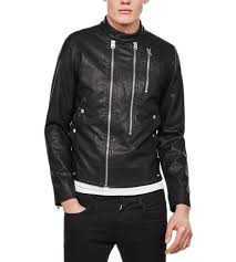 g star raw deline hybrid archive gpl biker black jacket