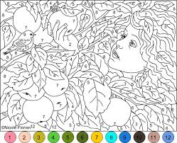 20 Free Printable Hard Color Number Pages For Adults Color Online