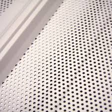 white acoustical liner panel