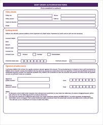 Sample Of Order Form Template Sample Debit Order Form 12 Examples In Word Pdf