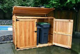 outdoor trash can storage shed outside garbage cabinet for decor amusing in sheds with pertaining to