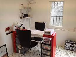 small home office design. Amazing Workspace Design Ideas Using Small Spaces Office Desk : Fancy Decoration With Red Home