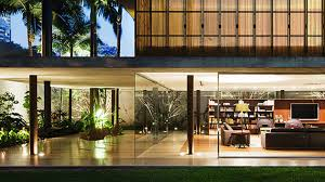 Small Picture Appealing Modern Toblerone House in So Paulo Brazil Home