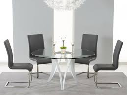 berlin round glass dining set with 4 chairs chair colour
