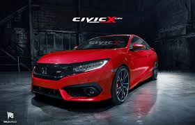 Our 2016 Honda Civic Si Coupe preview render images | 2016+ Honda ...