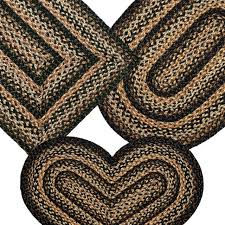 braided rug black forest jute country primitive ihf for