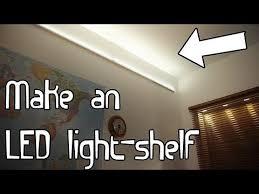 build an led light shelf