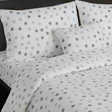 grey and white star print toddler bedding set nursery bedroom