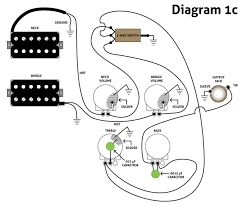 three must try guitar wiring mods premier guitar diagram 1c is a version for four knob guitars such as traditional les pauls the only difference on three knob guitars the signal usually goes from the
