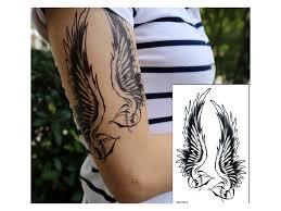 Voděodolné Dočasné Tetování Motiv Andělská Křídla