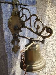 french vine br hanging chain pull door bell