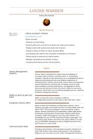 Library Assistant Resume Samples Visualcv Resume Samples Database