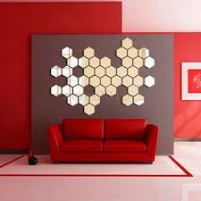 modern hexagonal silver acrylic 12pcs 3d mirror wall decal decor art sticker diy on 3d mirror wall art stickers with modern hexagonal silver acrylic 12pcs 3d mirror wall decal decor art