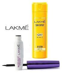 lakme imported perfect radiance waterproof eyeliner sun expert uv lotion makeup kit ml lakme imported perfect radiance waterproof eyeliner sun