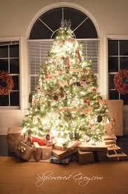 Grey Christmas Tree Thanksgiving Table Recap And Tutorial Slipcovered Grey Christmas
