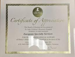 Appreciation Award Ess Fleet Service