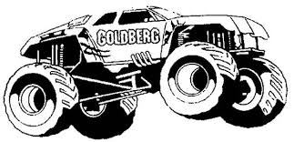 Monster Truck 57 Transportation Printable Coloring Pages