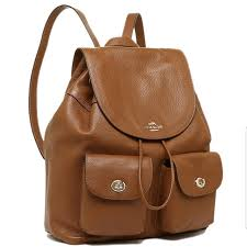 authentic coach brown leather backpack women s fashion bags wallets on carou