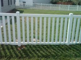 WHITE VINYL PICKET CORNER FENCE FENCE GATE