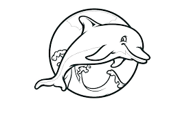 Dolphin Coloring Pages Free Psubarstoolcom